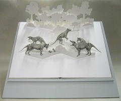 Thylacine pop-up book by riikka
