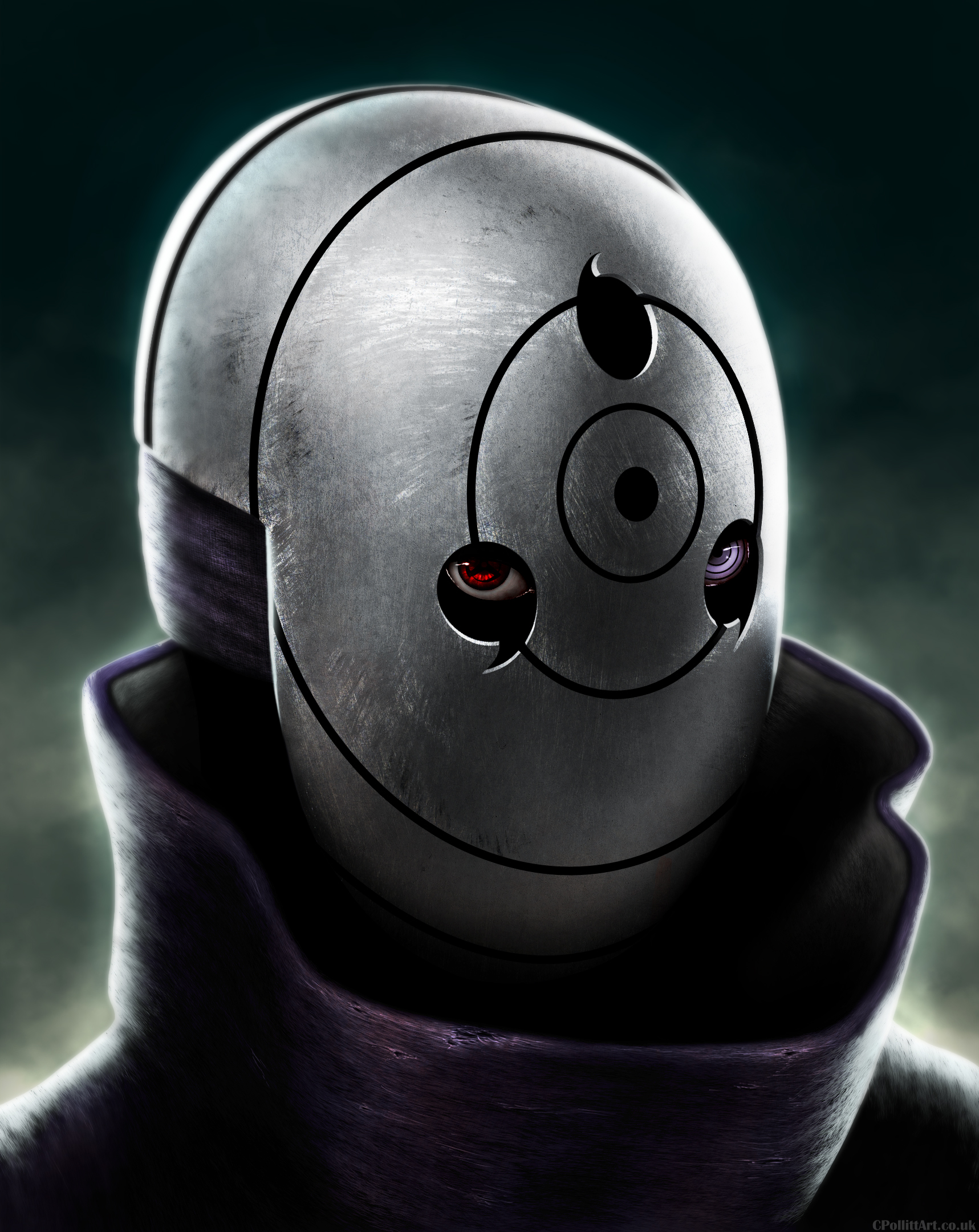 Obito Uchiha White Mask by MaskedVertexEater on DeviantArt