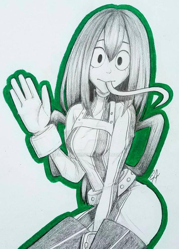 frog girl my hero academia by doitboii