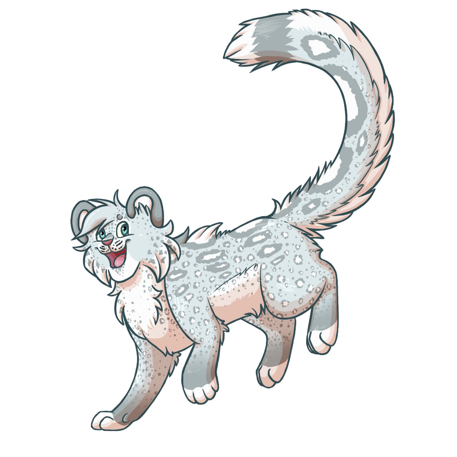 Snowleopard - Animal Persona - Cartoon by kh180