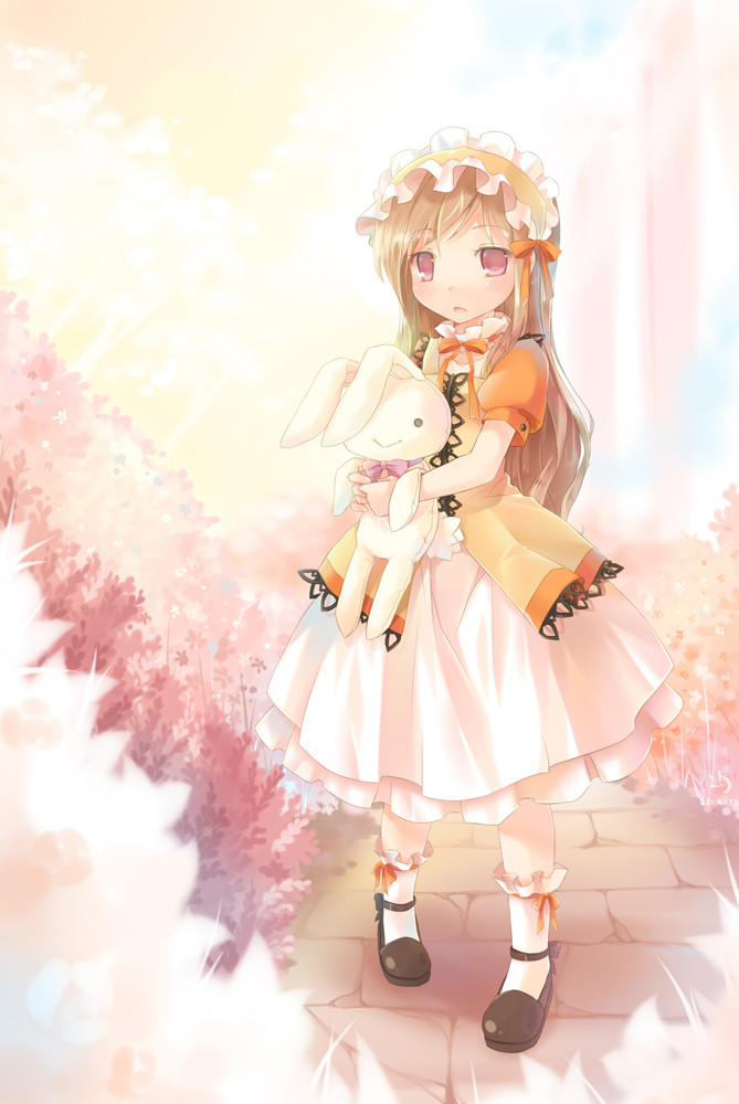 In a blossom garden by ninjinshiru