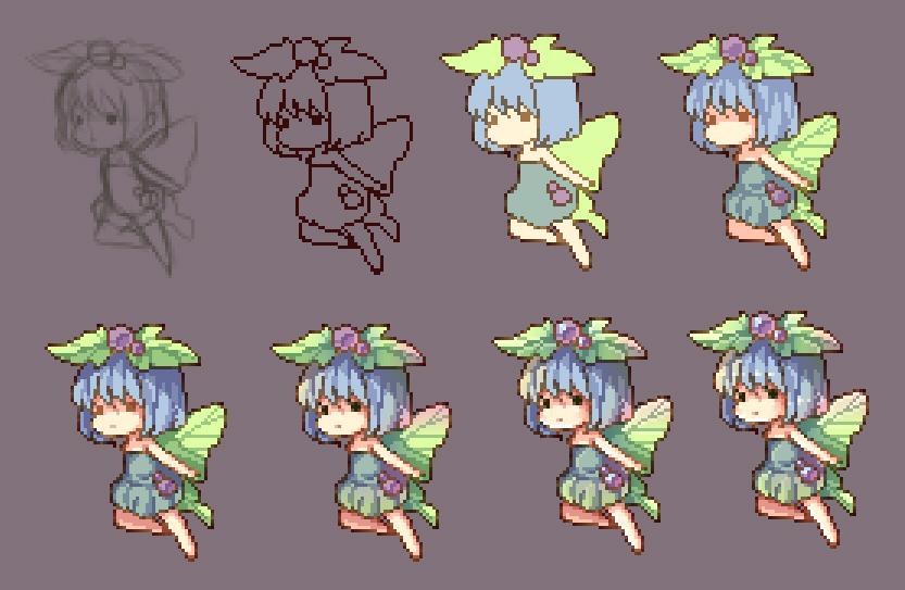 WIP pixel fairy by ninjinshiru