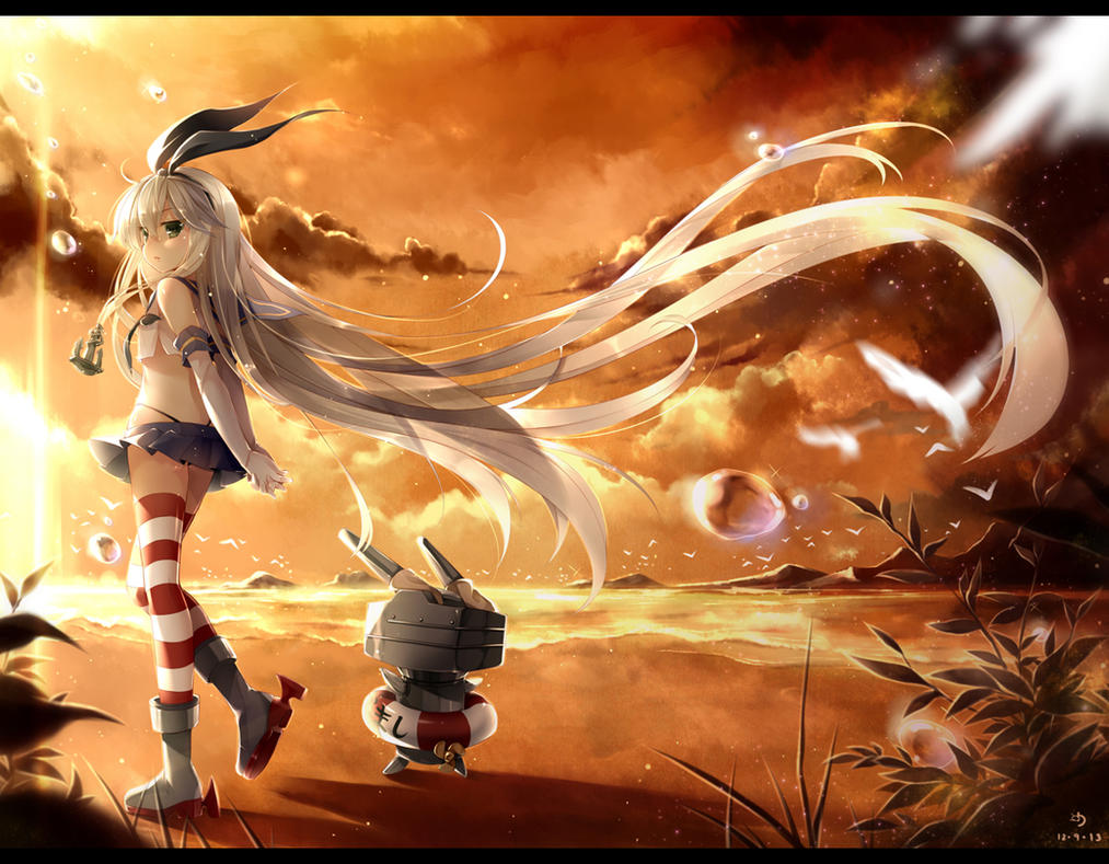 Shimakaze ni Sunset by ninjinshiru