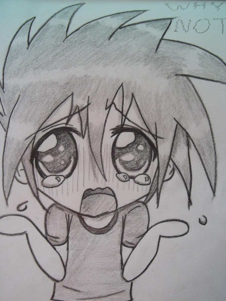 Cute Chibi Boy Drawing Sad Chibi Boy