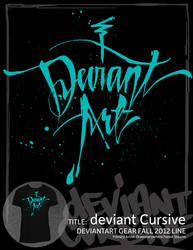 deviant Cursive by draweverywhere