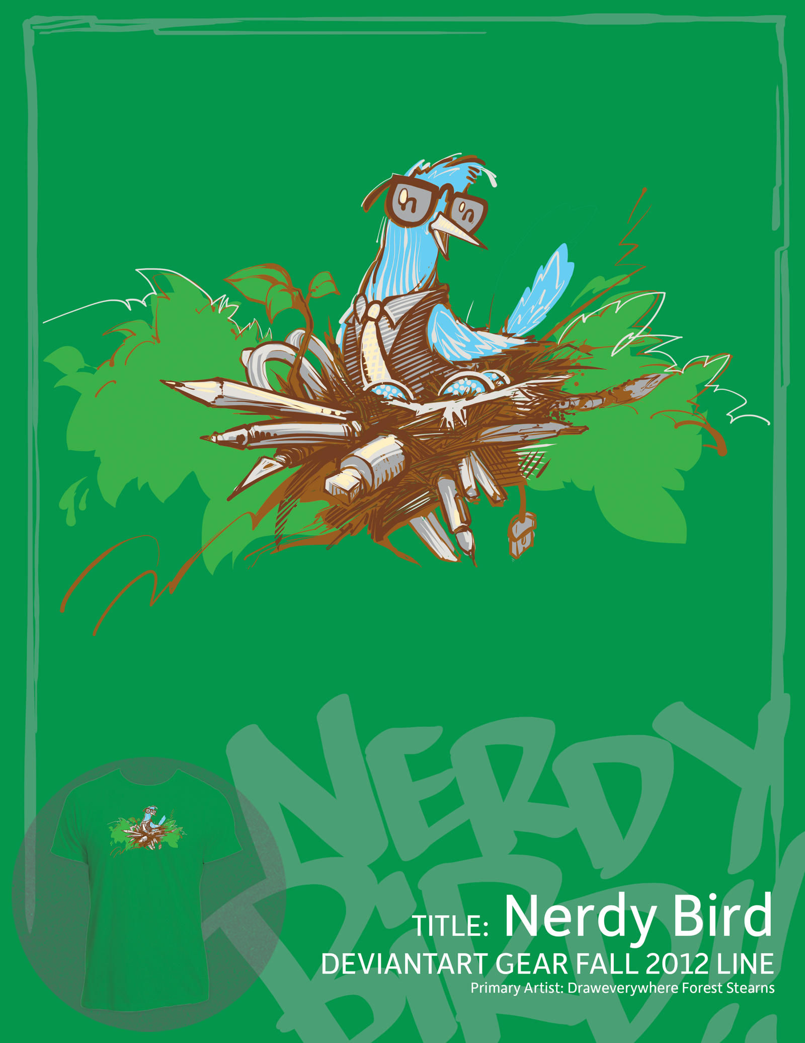 Nerdy Bird by draweverywhere