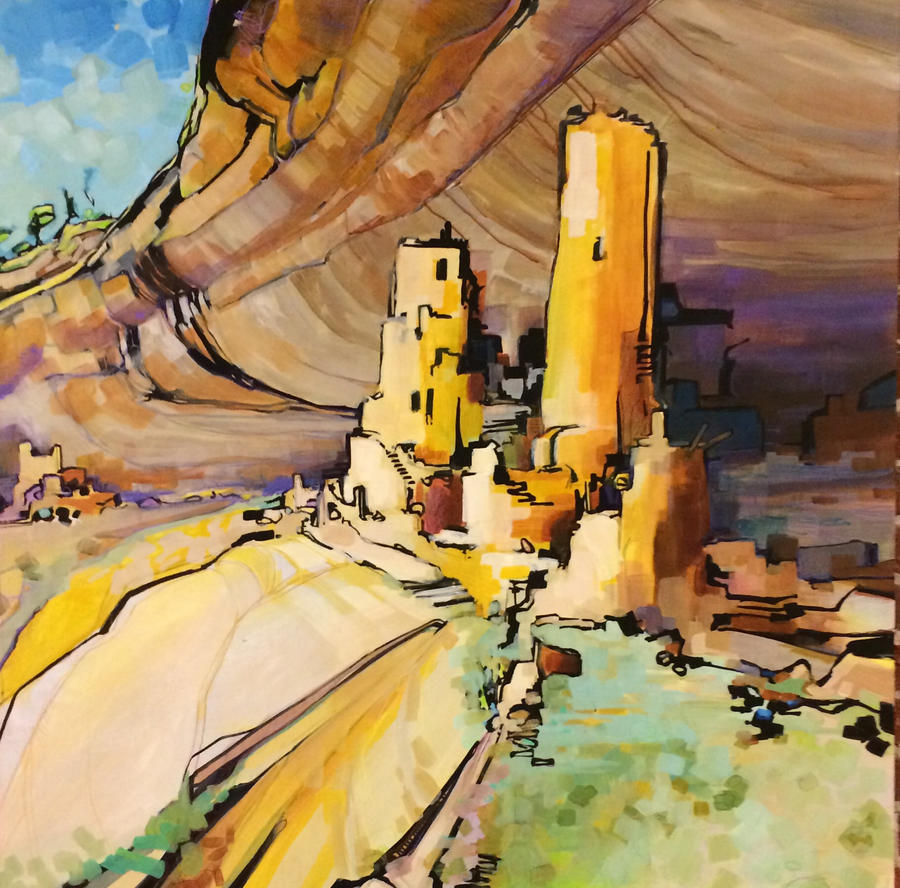 Exploring the Mesa Dwellings by draweverywhere