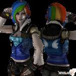 Lilith as Rainbow Dash