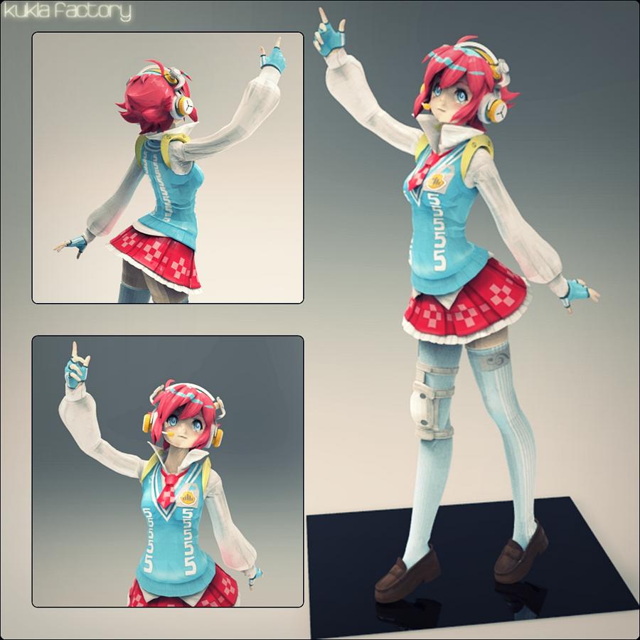 Windows 100% Utako | 3D Scale Figure by Kukla-Factory