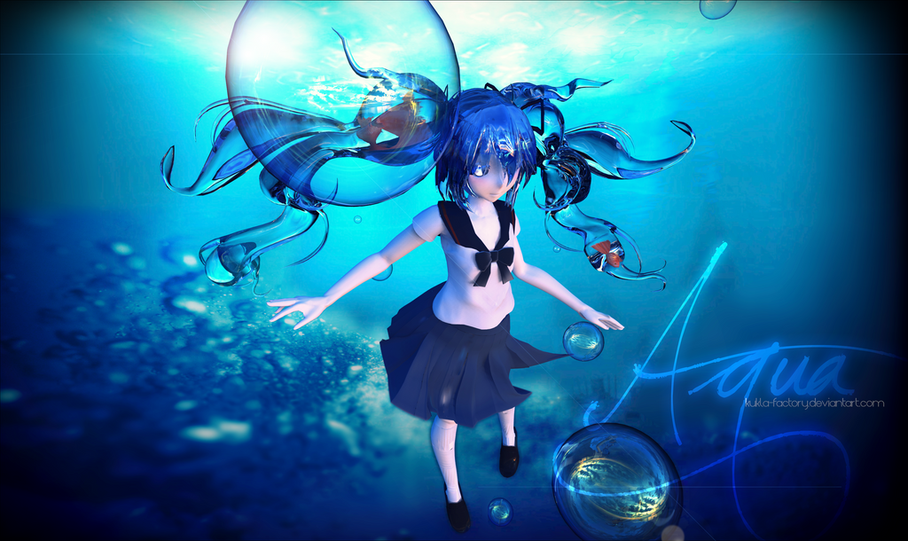 Bottle Miku - Underwater by Kukla-Factory