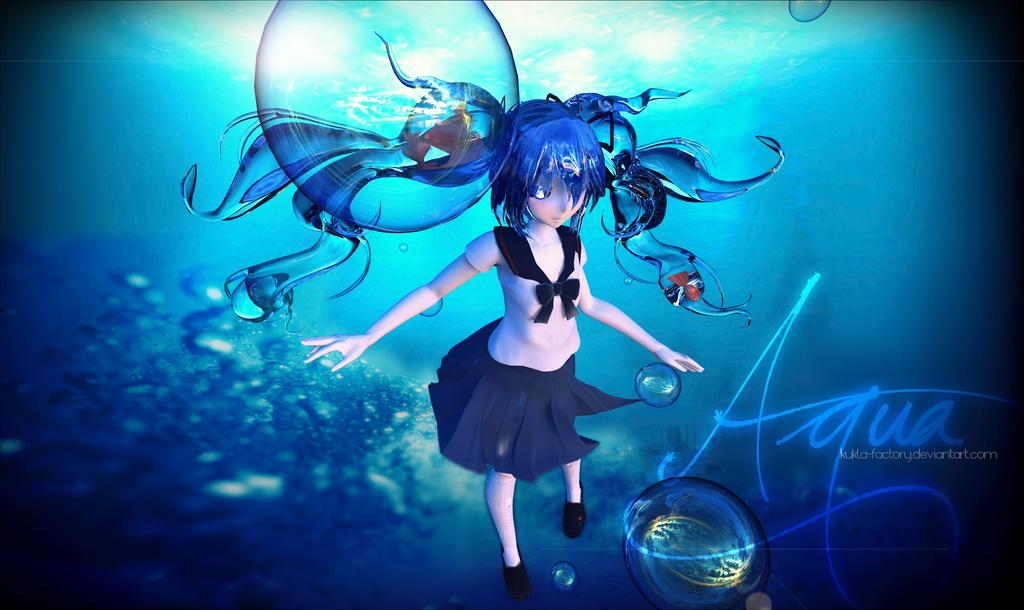 Bottle Miku - Underwater by Kukla-Factory