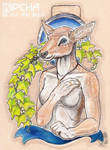 Kipcha Silver and Gold Badge by Levn