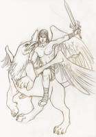 Grifo y angel by kumitawapa