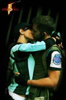 ChrisxJill_kiss by FairyScarlet