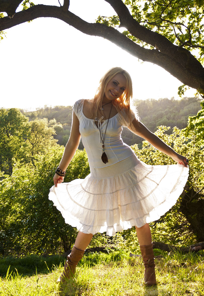 White dress and no underwear by BikeBoyPunk