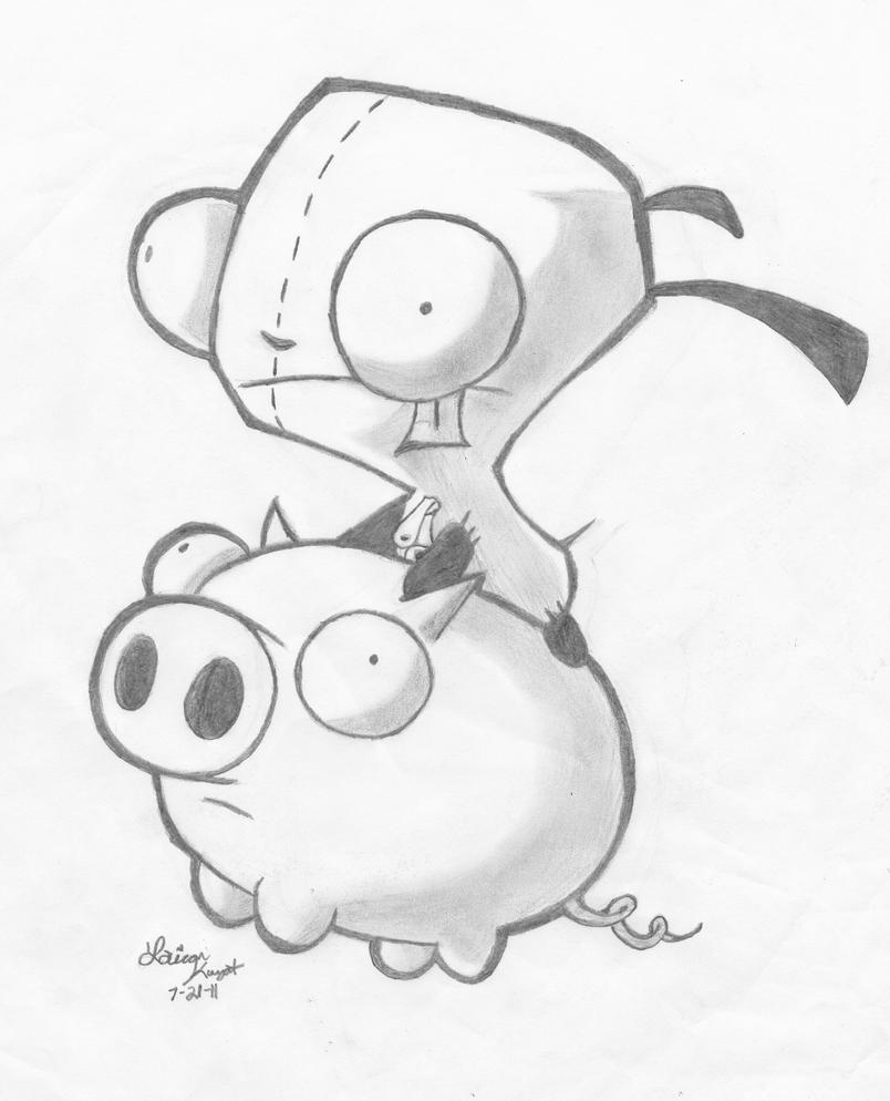 gir and piggy coloring pages - photo#23