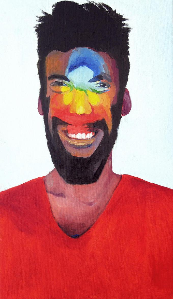 Rainbow portrait by picasio