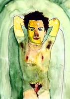desnudo en el agua by picasio