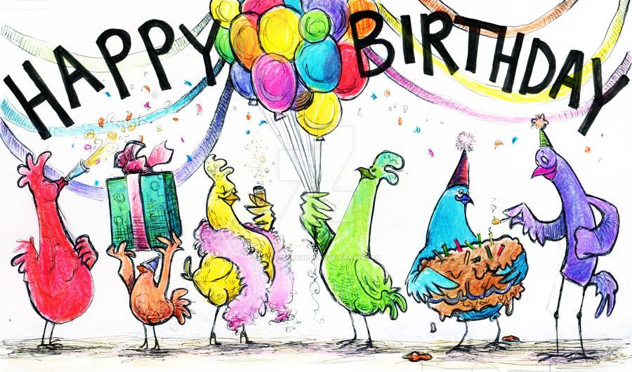 Chicken birthday card by ashleysarahhurd on deviantart chicken birthday card by ashleysarahhurd bookmarktalkfo Choice Image