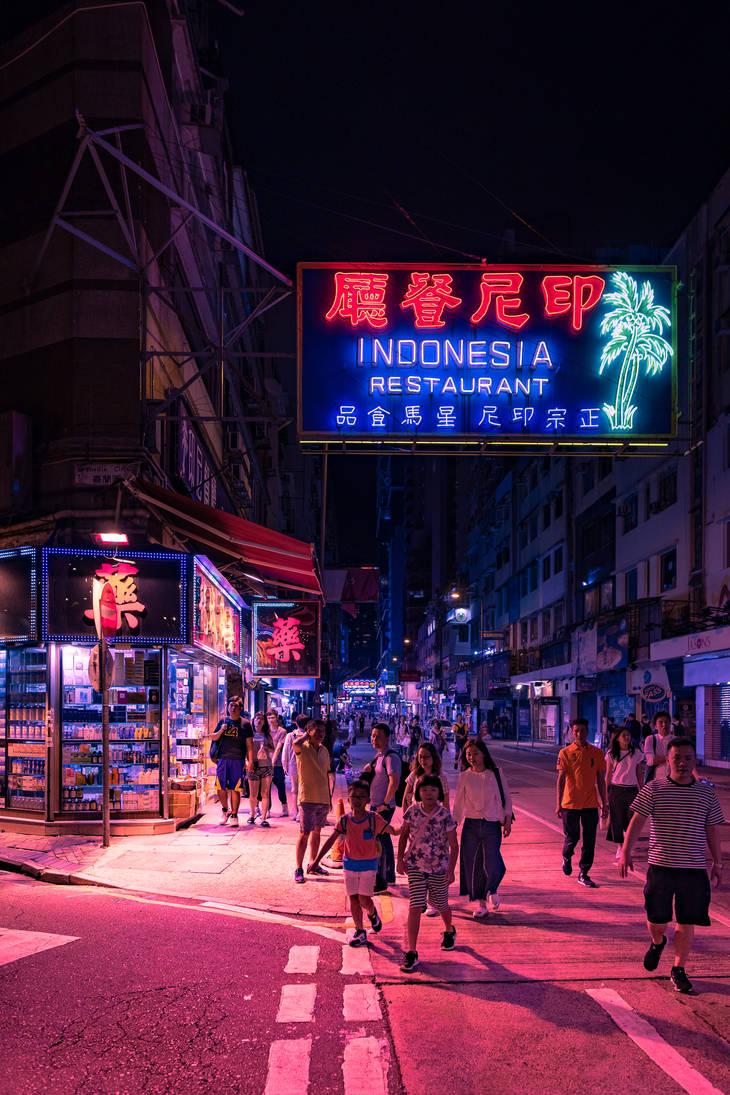 Hong Kong Street Scene by rayxearl