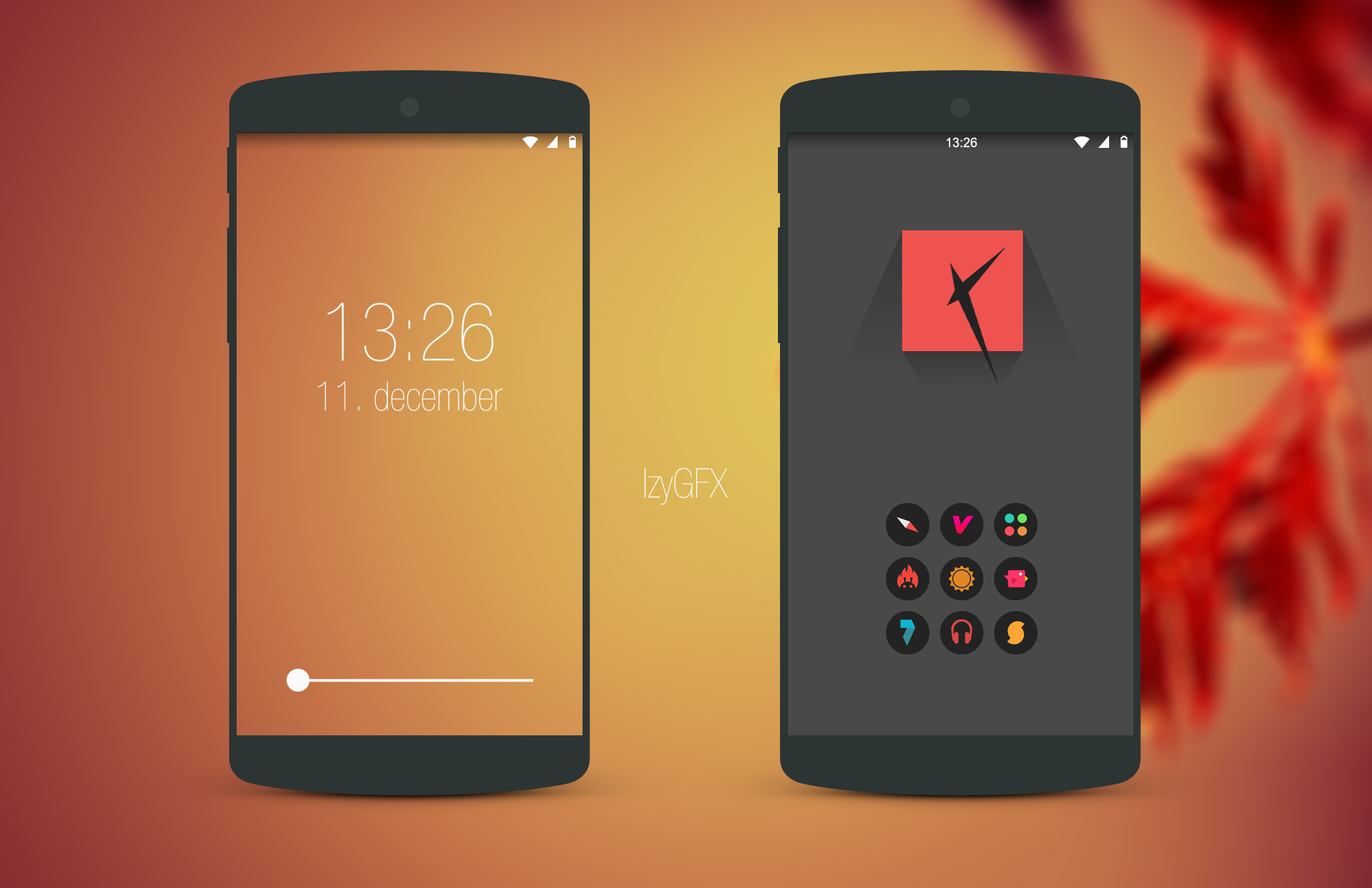 Minimal homescreen design leaf by izyman on deviantart - Screens in home gesign ...