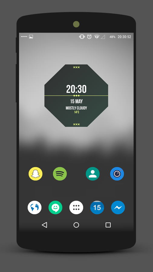 Graygreen Space Minimal Homescreen Design By Izyman On Deviantart