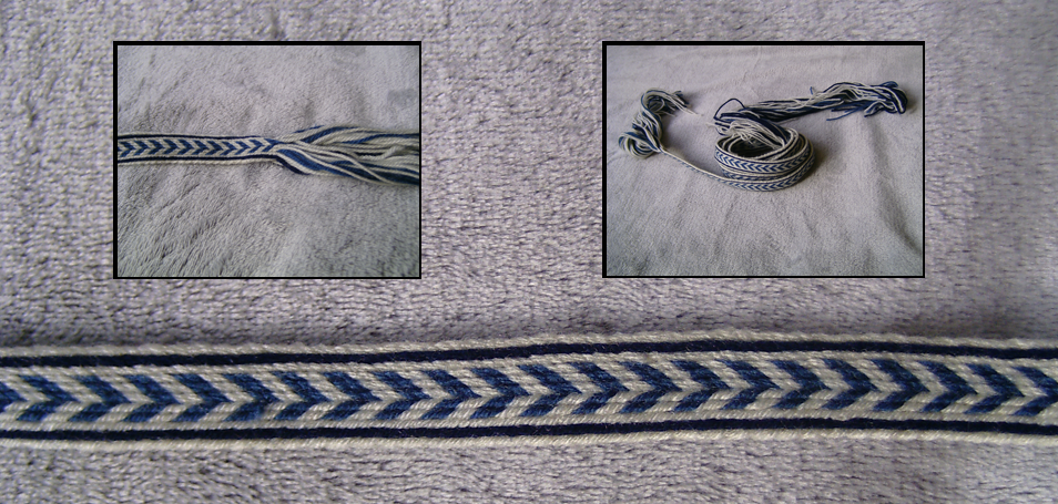 Tablet Weaving Project 1: Blue Arrow Band by AlexandraSpruit on