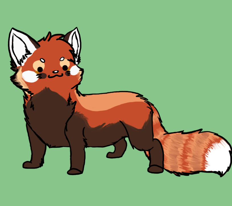 Chibi red panda - photo#17