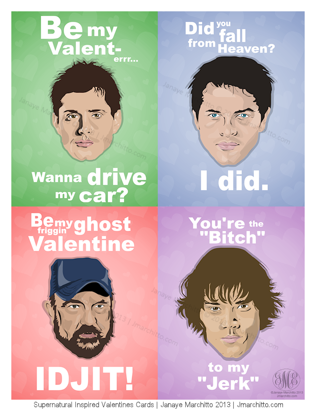 Supernatural Inspired Valentines Day Cards By Jmarchitto ...