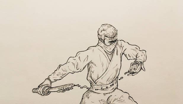 Sword, line work