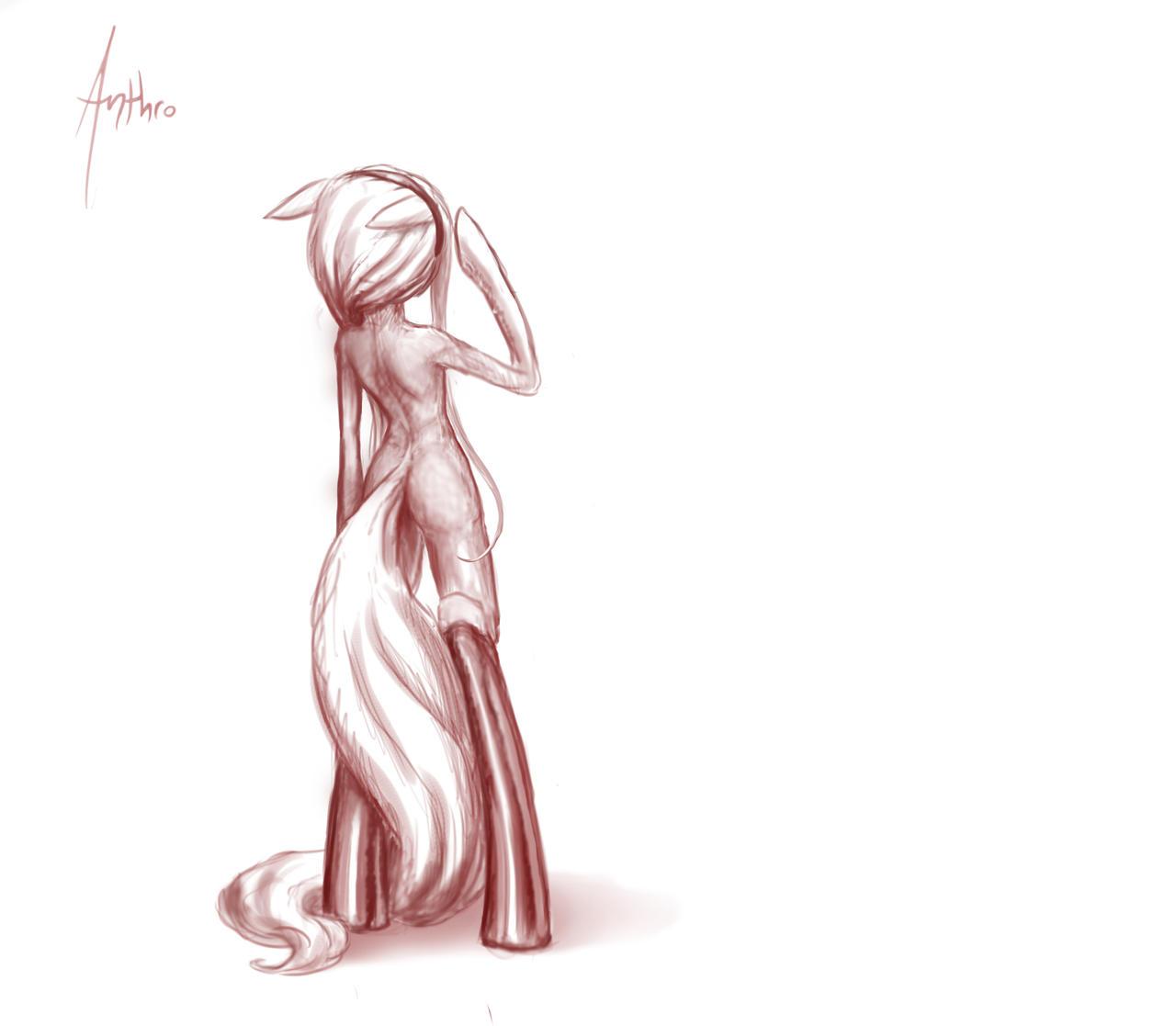 Anthro Sketch by sonar-doll