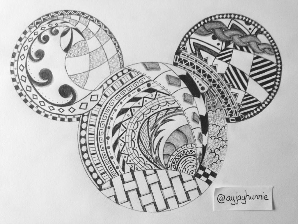 Zentangle Mickey by ayjayhunnie