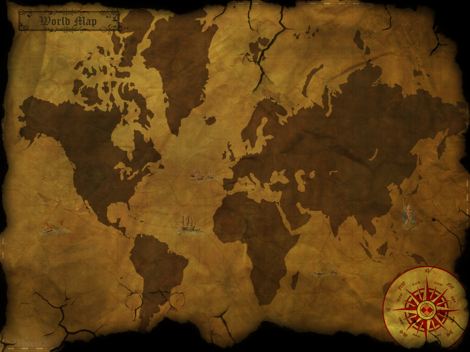 Old world style map by wheels35 on deviantart old world style map by wheels35 old world style map by wheels35 gumiabroncs Gallery
