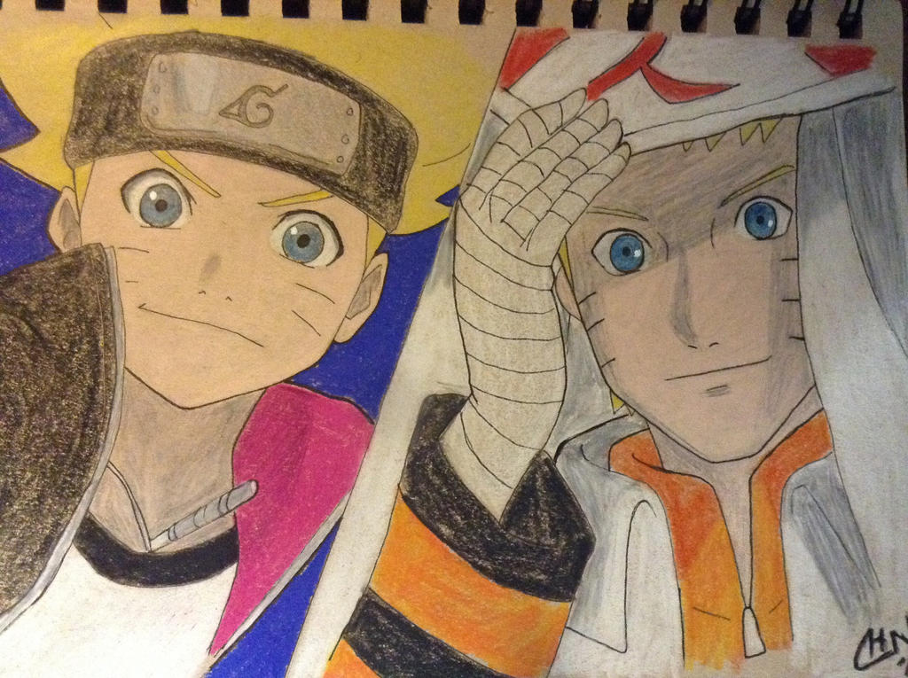 Father and Son (Boruto: Naruto the Movie)  by scootalootheotaku007