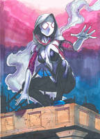 SpiderGwen (Copic Markers) by scootalootheotaku007