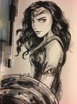 Wonder Woman (ink drawing)