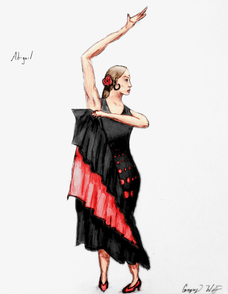 Abigail the Flamenco Dancer (Costume Design Reques by Qoo42