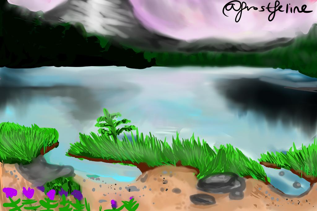 Lake scenery by frostfeline