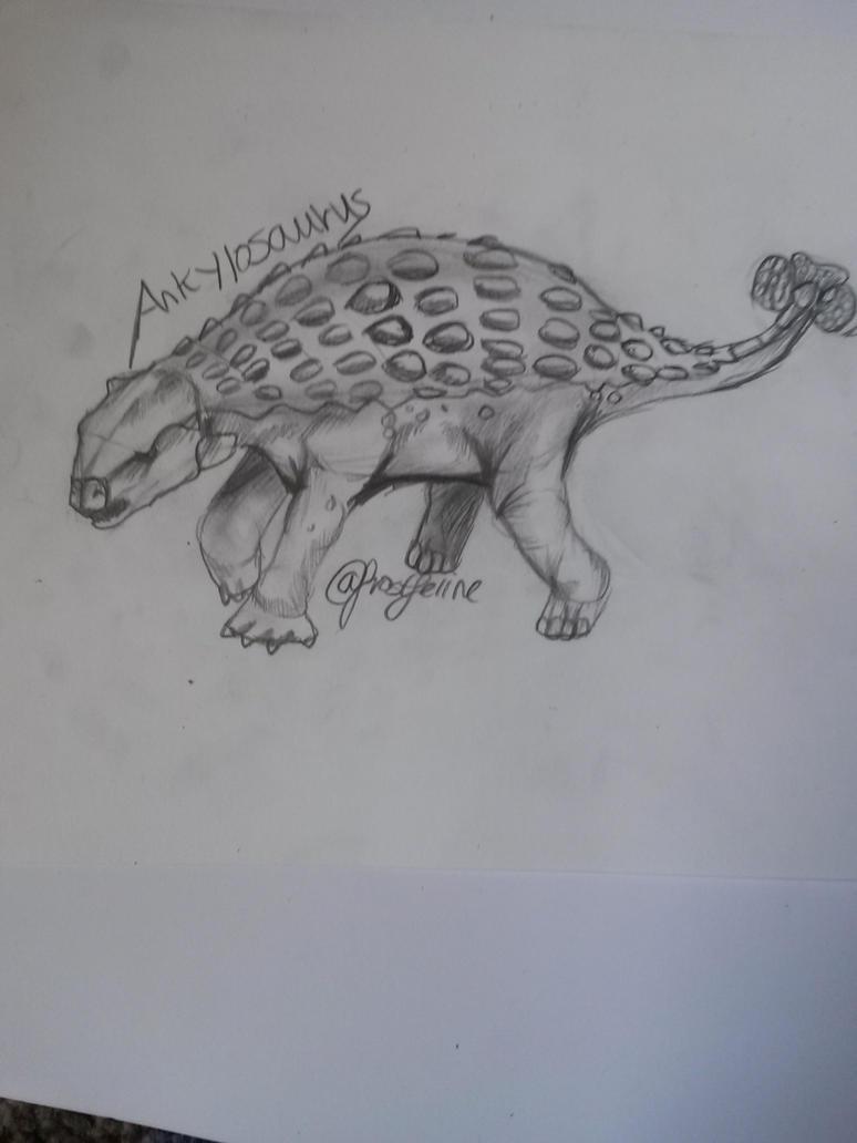 Ankylosaurus skerch by frostfeline