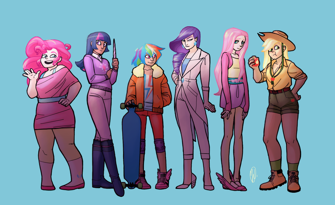 My little pony characters as humans