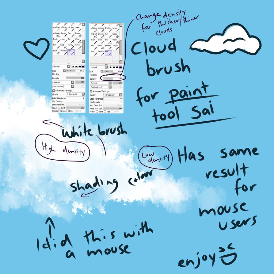 cloud pen for paint tool sai by ponacho on deviantart