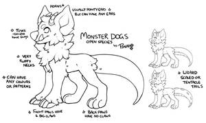 Monster dog Ref (OPEN SPECIES)