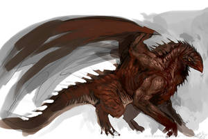 Speedpaint - Mountain Dragon by DefiledVisions
