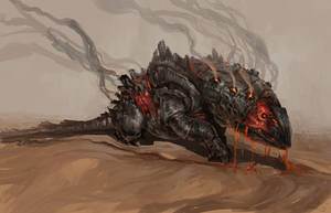 creatureconcept - Rockmuncher by DefiledVisions