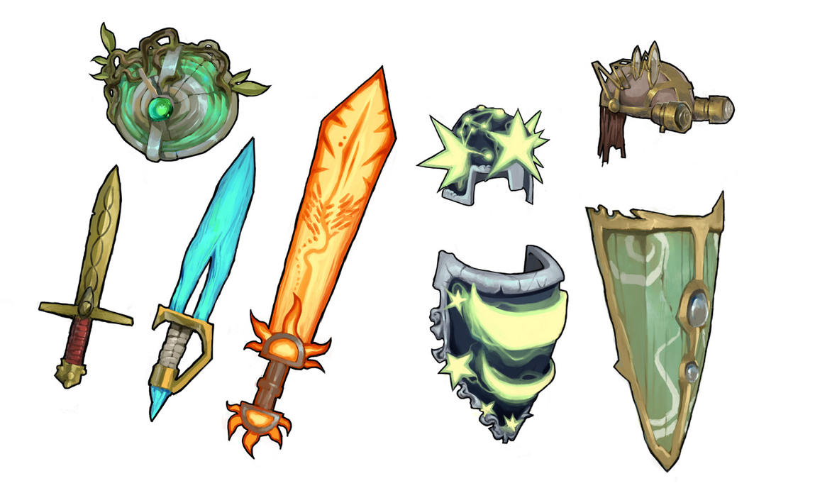Cartoony items by defiledvisions