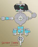 Zelda - Skyward Sword: Skyview Temple Map by Mr-DeKay
