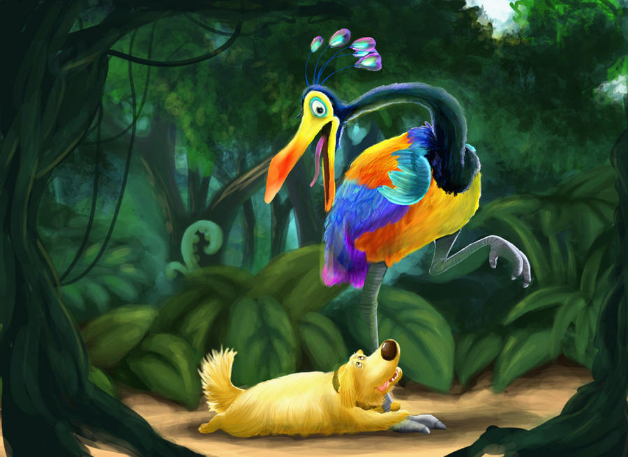 Kevin and Dug by crystaltiger52