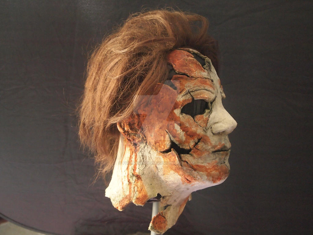 Micheal Myers Mask Side 1 by Fullmoon-rose