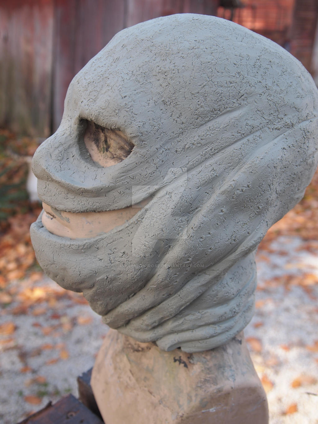The Collector Mask Clay Sculpt side 2 by Fullmoon-rose
