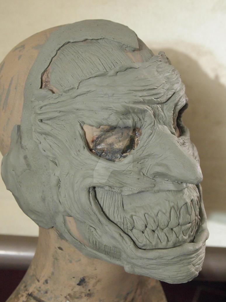 Batman New 52 Joker clay sculpt side 1 by Fullmoon-rose